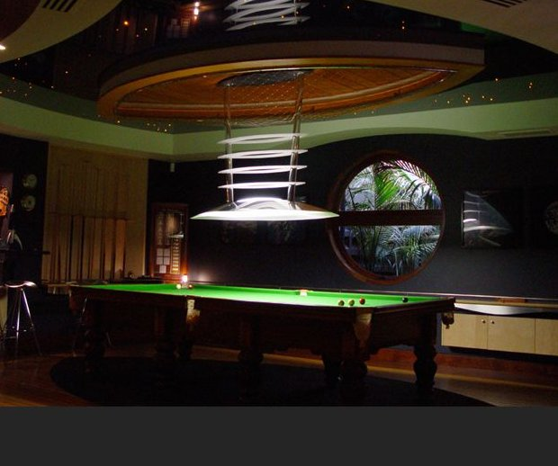 Pool table light with ceiling fan taraba home review pool room lighting picture greentooth Choice Image